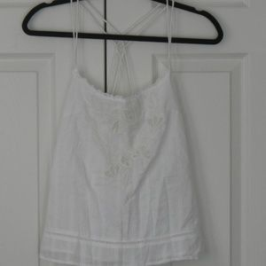 Abercrombie & Fitch Babydoll Like White Top
